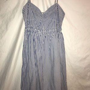J Crew blue and white pin stripes Dress